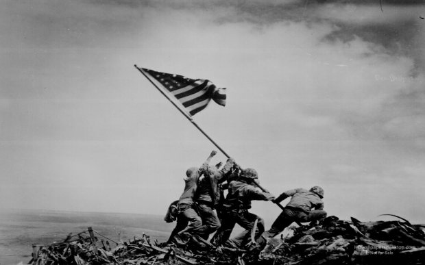 Flag-Raising-on-Iwo-Jima-Wallpaper-Photo-