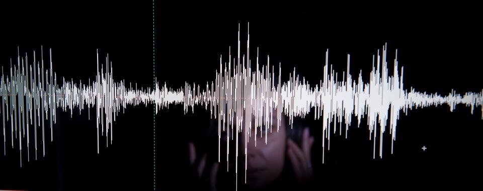 Detail of a forensic speech laboratory // Detalle de un laboratorio de fonetica y linguística forense. Foto: Gianluca Battista